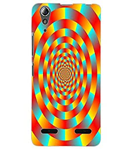 ColourCraft Lovely Colourful Pattern Design Back Case Cover for LENOVO A6000