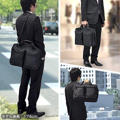 サンワダイレクト ビジネスバッグ パソコンバッグ 14型ワイド まで対応 PCバッグ 20個のポケット付き 200-BAG043