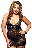 Seven Til Midnight Women's Plus Size Resist Me Lace Chemise thumbnail