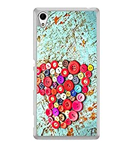 Colourful Buttons Heart 2D Hard Polycarbonate Designer Back Case Cover for Sony Xperia Z4