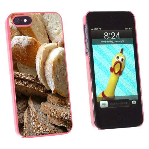 Bread - Loaf Rye Italian French - Snap On Hard Protective Case for Apple iPhone 5 5S - Pink