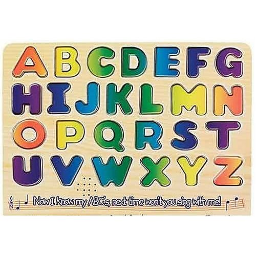 Melissa Doug Learn Your Abcs Wooden Sound Puzzle front-660884