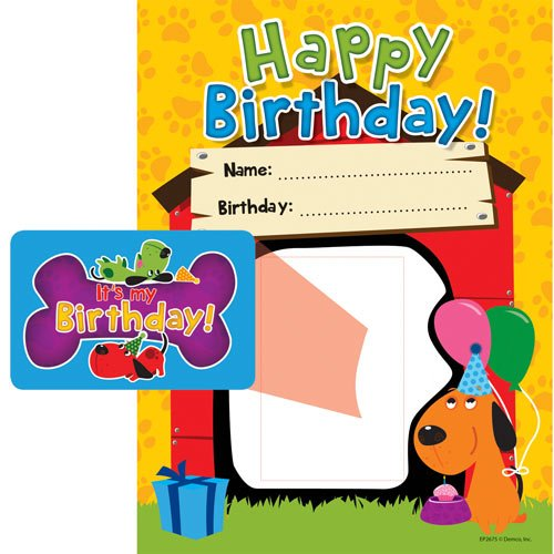 Bulletin Board Accents Happy Birthday Dog Frames - 1