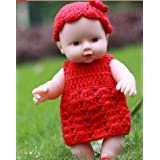 30cm Reborn Baby Doll Soft Vinyl Silicone Lifelike Alive Babies Toys For Kids Girls Birthday Chirstmas Gift (RED)