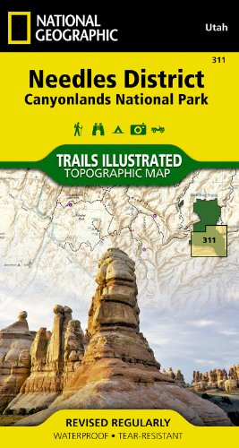 Needles District Canyonlands National Park, Utah: Outdoor Recreation Map (National Geographic Maps: Trails Illustrated)