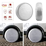 "Kohree Tire Covers Tire Protectors RV Wheel Motorhome Wheel Covers Sun Protector Waterproof Aluminum Film, Cotton Lining Fits 27"" to 29"" Tire Diameters Set of 4"