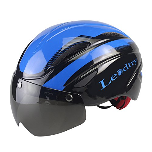 Leadtry-HM2-Bicycle-Helmet-Ultralight-Integrally-Molded-EPS-Bike-Safety-Helmet-Specialized-for-Road-Mountain-Terrain-Bicycle-with-Comfortable-Removable-Washable-Antibacterial-Pads-Detachable-Goggles