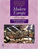 img - for Modern Europe 1870-1945 (Longman Advanced History) book / textbook / text book