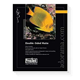 Projet Standard Weight Double Sided Matte Inkjet Paper, 8.0 mil., 4x6\