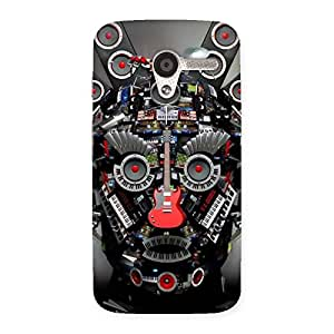 Music Face Back Case Cover for Moto X