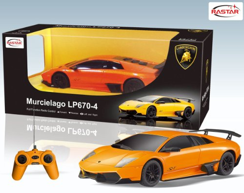 1/24 Scale Lamborghini Murcielago LP670-4 SV Radio Remote Control Model Car R/C RTR (Colors Vary)