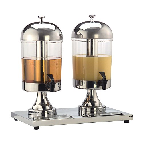 American Metalcraft (JUICE2) 8 ½ qt Double Stainless Steel Beverage Dispenser (Cafeteria Juice Dispenser compare prices)