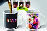 Cortunex Heat Sensitive Color Changing Coffee Mug, Have a nice day Flowers Design