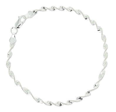 Bracelet Bague en Argent 925//000 Rhodi/é et Oxyde de Zirconium Main de Sarah Bijoux de Main Femme
