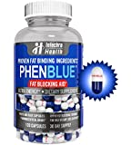 PHENBLUE® - Extreme Fat Blocker With Peak Energy Boost + Powerful Appetite Suppression - Pharmaceutical Grade Thermogenic Fat Burning Diet Pills - 120 Blue White Capsules Made in the USA