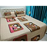 JMT(100% Heavy Stuff Pure Cotton Double Bedsheet With 2 Pillow Cover,size -230x250 Cms, Pillow - 69x46 Cms) - B074D2YNB1