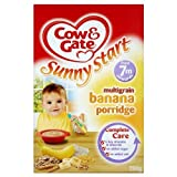 Cow & Gate 7 Mths+ Multigrain Banana Porridge 4x200g