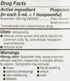 GoodSense Childrens Ibuprofen Pain Reliever/Fever Reducer Oral Suspension, Grape, 4 Fluid Ounce