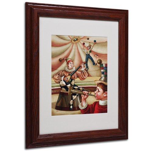Trademark Fine Art Fiesta Allegro Artwork By Edgar Barrios, Wood Frame, 11 By 14-Inch front-487929