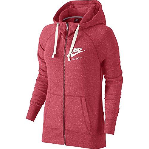 Women's Nike Sportswear Gym Vintage Hoodie Ember Glow/Sail Size X-Large