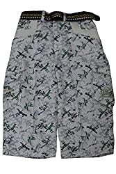 Titrit White Cotton Printed Capri for Boys