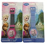 Disney Frozen Queen Elsa and Princess Anna Digital LCD Wrist Watch Boys Stocking Stuffer - 2 Piece