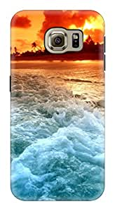 Generic Hard Printed Back Cover for Samsung S6 (Multicolor)