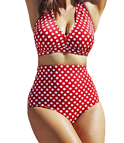 fq-real-dress-womens-red-white-polka-dot-halter-bikini-swimsuit-l