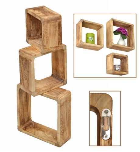 3er-Set-Lounge-Cube-Regal-Landhaus-Stil-Wandregal-Hngeregal-Massivholz-in-Hellbraun