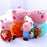 "4Pcs Peppa Pig Family Plush Doll Stuffed Toy 12"" DADDY MOMMY 8"" PEPPA GEORGE - Bundle/Bulk Buy"