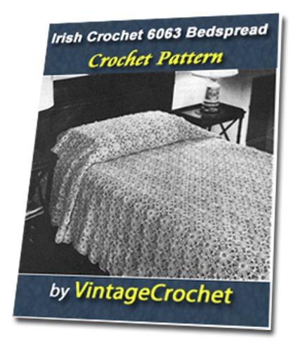 Irish Crochet Bedspread No.6063 Vintage Crochet Pattern PDF