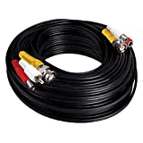 Night Owl 100' in-Wall Rated Video/Power/Audio Extension Cable, Black (CAB-UL2-100VPA)