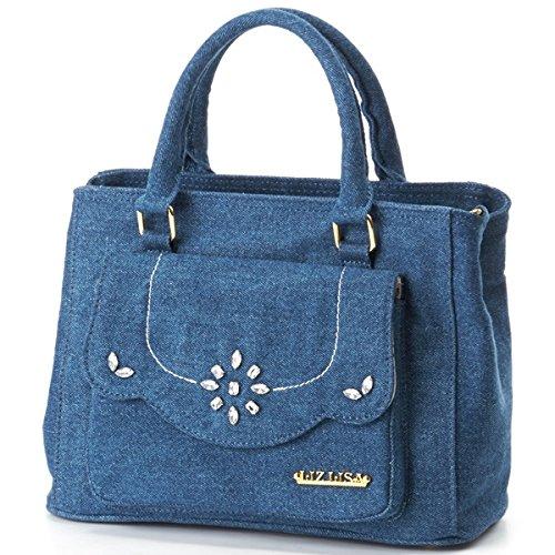 Amazon.co.jp: リズリサ(バッグ&ウォレット)(LIZ LISA Bag&Wallet) バッグ(デニム2WAYテサゲ)【ネイビー/**】: シューズ&バッグ:通販