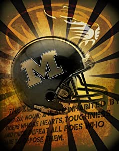 Buy Missouri Tigers 11x14 Wrapped Canvas of the Helmet by ActionSportsArt