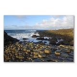 Poster art print: GIANT'S CAUSEWAY N IRELAND HEXAGONAL (A1 maxi - 61x91.5cm / 24x36in, glossy photo paper)