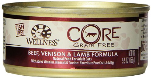 Wellness Core Grain Free Beef, Venision And Lamb Formula Cat Food, 24 Pack Of 5.5 Ounce Cans