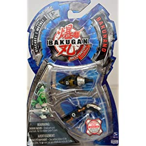 Bakugan Mechtanium Surge- BakuNano - with Real Die-Cast - 2 piece set - Hyper Pulsor & Sonicanon