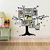 WalplusBirdcage Photo Frame Wall Stickers, Home Decoration , 150cm x 100cm, PVC, Removable, Black