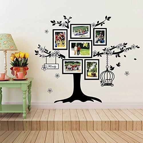 Walplus(TM) Family Photo Frames Vine Tree Wall Stickers Mural Decal Paper Art Decoration