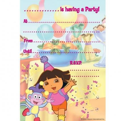 Dora The Explorer Party Invitations (Pad Of 20)
