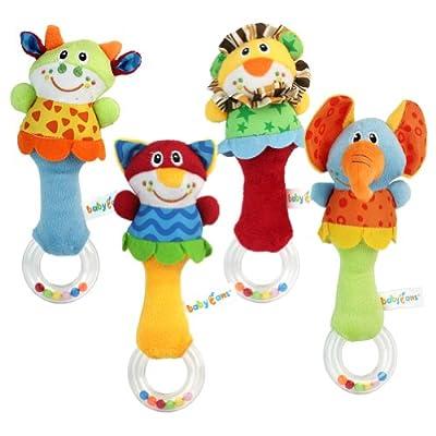 New Lovely Soft Hand bells Animal Model Long Handbell Developmental Toy Hot