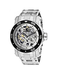 Invicta Men's 10303 Pro Diver Mechanical Silver Tone Skeleton Dial Watch