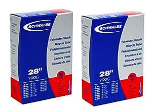 SCHWALBE(シュワルベ) 【正規品】700x18-28Cチューブ 仏式 40㎜バルブ 15SV 【2個セット】