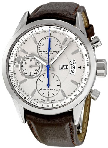 Raymond Weil Men's 7730-STC-65021 Freelancer Brown Leather Strap Watch