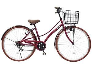 CHACLE(チャクル) 空気入れ不要! ノーパンク自転車 シティサイクル 27インチ [外装6段変速、ベルソーフレーム] レッド CHN-CC276BE-SP