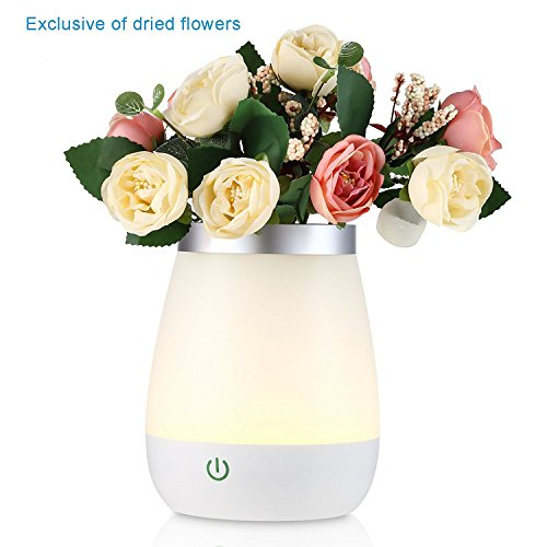 FVTLED LED Vase Table Lamp Dimmable Night Light Bed Desk Lamp for Bedroom Living Room Baby Nursery, USB Rechargeable Lights Warm White