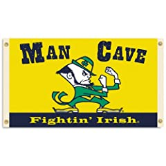 Buy NCAA Notre Dame Fighting Irish Man Cave Flag with 4 Grommets, 3 x 5-Feet by BSI