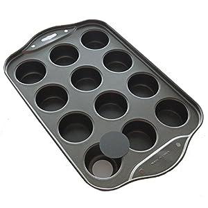 Stately Kitchens Deluxe Commercial Grade Mini Cheesecake Pan - Mini Tart Pan - Mini Muffin Pan