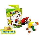 Brick Clicks Parrot 38pcs 3 In 1 Unlimited Creativity Fun Birds Educational Play Toys Building Blocks Set For...