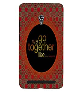 PrintDhaba Quote D-4992 Back Case Cover for ASUS ZENFONE 6 A601CG (Multi-Coloured)